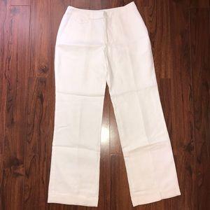 EUC 🧡 LIZ CLAIBORNE | White Linen Jackie Pants